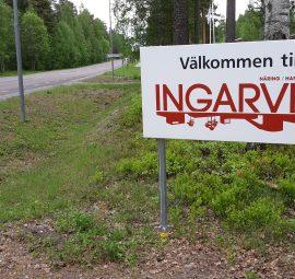Skylt Välkommen till Ingarvet i Falun