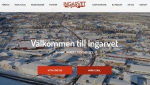 Skärmklipp från hemsidan www.visitingarvet.se