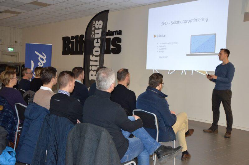 Visit Ingarvet genomför digitaliseringsprojekt, på bilden ses seminarium hos Bilfocus.