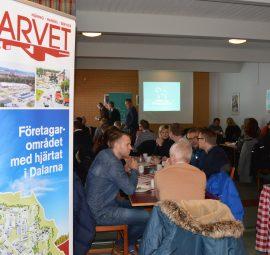 Bild från frukost på Gästabudet, 46 deltagare på mötet.